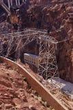 Líneas eléctricas de alto voltaje de la Presa Hoover Imagen de archivo libre de regalías