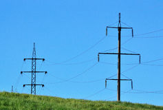 Líneas eléctricas del alambre Imagen de archivo