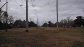Líneas eléctricas del poder más elevado Fotos de archivo