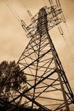 Líneas eléctricas eléctricas Fotografía de archivo libre de regalías