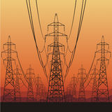Líneas eléctricas eléctricas libre illustration