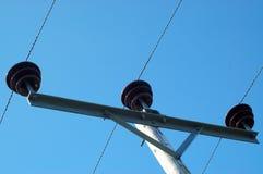 Líneas eléctricas rurales Foto de archivo libre de regalías