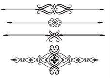 Líneas elegantes de la regla Imagen de archivo