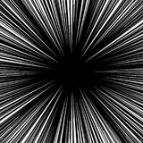Líneas elemento radiales Ejemplo geométrico abstracto radiación ilustración del vector