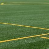 Líneas en echada del fútbol Imagen de archivo libre de regalías
