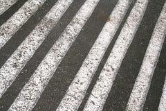 Líneas en el asfalto Fotografía de archivo