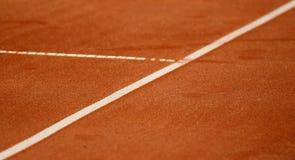 Líneas en el campo de tenis Imágenes de archivo libres de regalías