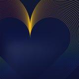 Líneas en forma de corazón coloridas libre illustration