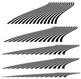 Líneas en la perspectiva 3d Líneas de desaparición, rayas con distortio libre illustration