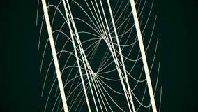 Líneas espirales curvadas coloridas brillantes que brillan intensamente elegantes que hacen girar el fondo animado de la ilusión  stock de ilustración