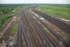 Líneas ferroviarias fotos de archivo