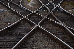 Líneas ferroviarias Fotografía de archivo