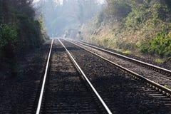 Líneas ferroviarias imagen de archivo libre de regalías