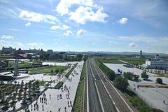 Líneas ferroviarias de Manzhouli en el extranjero Imagen de archivo