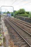 Líneas ferroviarias en Redon Francia Imagenes de archivo