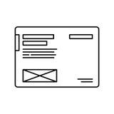Líneas finas icono Símbolo moderno de la página del wireframe Diseño del vector del esquema Concepto del pictograma del logotipo libre illustration