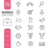 Líneas finas sistema de la estrategia empresarial del icono del web Fotos de archivo libres de regalías