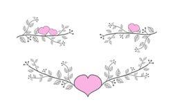 Líneas florales de la decoración Fotografía de archivo libre de regalías