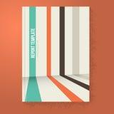 Líneas folleto de la perspectiva/plantilla del informe Imágenes de archivo libres de regalías