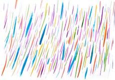 Líneas hechas a mano del extracto colorido de la acuarela Fotos de archivo