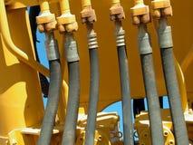 Líneas hidráulicas Foto de archivo libre de regalías