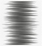 Líneas horizontales de la velocidad del elemento del diseño del cómic imagen de archivo libre de regalías