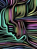 Líneas internas conceptuales stock de ilustración