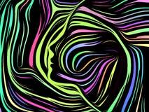 Líneas internas conceptuales ilustración del vector