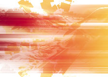 Líneas intrincadas de rojo y de anaranjado Imagen de archivo