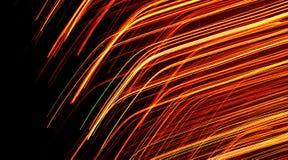 Líneas ligeras de color naranja libre illustration