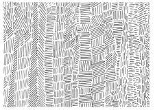 Líneas a mano blancos y negros ornamento ilustración del vector