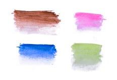 Líneas multicoloras del extracto de la acuarela Fotos de archivo