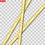 Líneas negras y amarillas de la precaución aisladas ilustración del vector