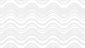 Líneas onduladas abstractas animación del blanco gris del vídeo