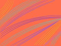 Líneas onduladas del fondo colorido de las rayas Fotografía de archivo