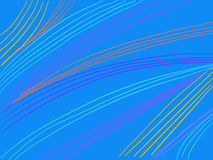 Líneas onduladas del fondo colorido de las rayas Imagen de archivo libre de regalías