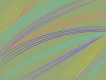 Líneas onduladas del fondo colorido de las rayas Foto de archivo