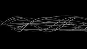 Líneas orgánicas onduladas que brillan intensamente ilustración del vector