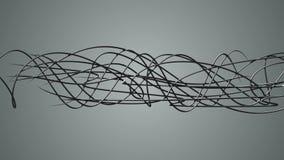 Líneas orgánicas onduladas que brillan intensamente stock de ilustración