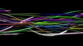 Líneas orgánicas onduladas que brillan intensamente, liana que se encrespa libre illustration