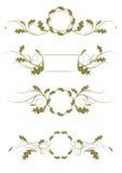 Líneas ornamentales de la regla imagenes de archivo