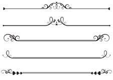 Líneas ornamentales de la regla Imágenes de archivo libres de regalías
