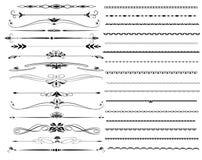 Líneas ornamentales de la regla en diverso diseño Imagen de archivo