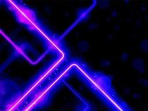 Líneas púrpuras azules laser del neón del fondo ilustración del vector