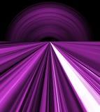 Líneas púrpuras del espacio Fotos de archivo