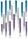 Líneas pintadas (vector) Foto de archivo libre de regalías