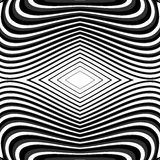 Líneas que agitan monocromáticas fondo del diseño Fotos de archivo