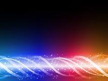 Líneas que brillan intensamente coloridas antecedentes. Imagen de archivo