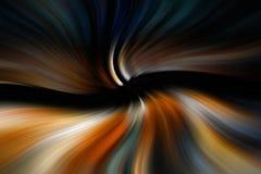 Líneas que fluyen en la oscuridad Fotos de archivo libres de regalías