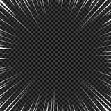 Líneas radiales blancas para los tebeos, acción del vector del super héroe Velocidad del marco de Manga, movimiento, fondo de la  libre illustration